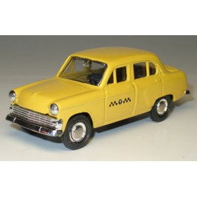 Azlk Moskvitch 403 Sedan Soviet Yellow Taxi Cab 1:43 D43R0132