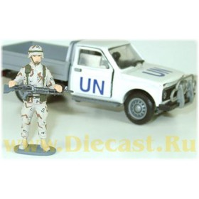 USA Army Iraq Troops Military Soldier With Machine Gun 1:43 D43R0464
