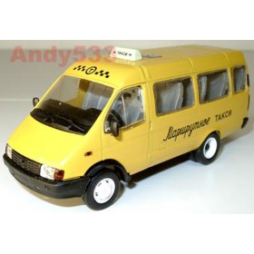 Gaz 3221 Gazelle Russian Yellow Taxi Shuttle Van SE 1:43 D43R0047