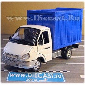 Gaz 3302 Gazelle Russian Delivery Box Truck 1:36 D36D1691