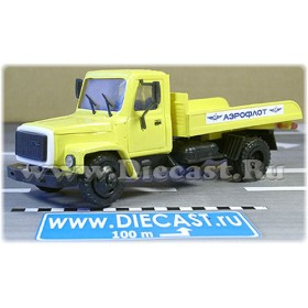 Gaz 3307 Russian Airlines Aeroflot Airport Laggage Truck 1:43 D43R1425