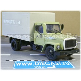 Gaz 3307 Russian Food Delivery Box Truck 1:43 D43R1429
