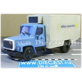 Gaz 3307 Refrigerator Eggs And Chickens Delivery Box Truck 1:43 D43R1434