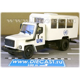 Gaz 3309 Russian Un United Nations Forces Military Army Bus 1:43 D43R1442