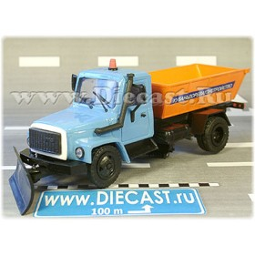 Gaz 3309 Russian Sand Scattering System Sweeper Truck 1:43 D43R1471