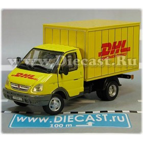 Gaz 3302 Gazelle DHL Post Mail Delivery Hardtop Box Truck 1:50 D50H1961