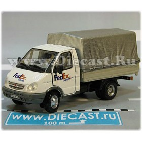 Gaz 3302 Gazelle Russian Fedex Express Mail Delivery Canvas Top Truck 1:50 D50H1969