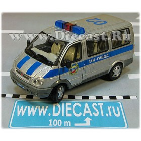 Gaz 2217 Sobol (Sable, Short Gazelle) Russian Traffic Police Highway Patrol Van Minibus 1:50 D50H1837