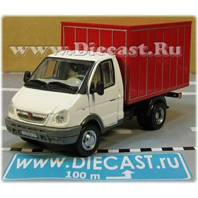 Gaz 3302 Gazelle Russian Commercial Delivery Hardtop Box Truck WhiteRed 1:50 D50H1841