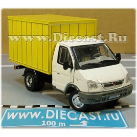 Gaz 3302 Gazelle Russian Commercial Delivery Hardtop Box Truck WhiteYellow 1:50 D50H1843