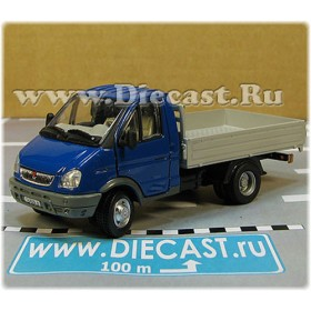 Gaz 3302 Gazelle Russian Commercial Delivery Flatbed Light Truck Blue 1:50 D50H1844