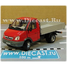 Gaz 3302 Gazelle Russian Commercial Delivery Flatbed Light Truck Red 1:50 D50H1845