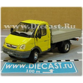 Gaz 3302 Gazelle Russian Commercial Delivery Flatbed Light Truck Yellow 1:50 D50H1847