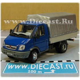 Gaz 3302 Gazelle Russian Commercial Delivery Canvas Top Light Truck Blue 1:50 D50H1848