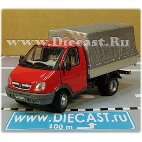Gaz 3302 Gazelle Russian Commercial Delivery Canvas Top Light Truck Red 1:50 D50H1849