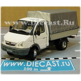 Gaz 3302 Gazelle Russian Commercial Delivery Canvas Top Light Truck White 1:50 D50H1850