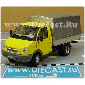 Gaz 3302 Gazelle Russian Commercial Delivery Canvas Top Light Truck Yellow 1:50 D50H1851