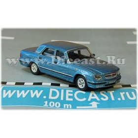 Gaz 31105 Volga Russian Sedan 2003 Color Blue 1:72 D72H1879