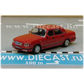 Gaz 31105 Volga Russian Sedan 2003 Color Red 1:72 D72H1880