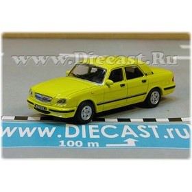Gaz 31105 Volga Russian Sedan 2003 Color Yellow 1:72 D72H1883