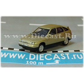 Lada Vaz 112 2112 Russian Hatchback 1998 Color Gold 1:72 D72H1885
