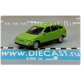 Lada Vaz 112 2112 Russian Hatchback 1998 Color Lime Green 1:72 D72H1886