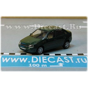 Lada Vaz 118 2118 Kalina Color Green 1:72 D72H1892