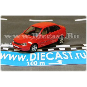 Lada Vaz 118 2118 Kalina Color Red 1:72 D72H1895