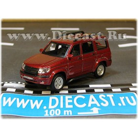Uaz 3163 Patriot Russian 4x4 Awd Suv Color Cherry 1:72 D72H1900