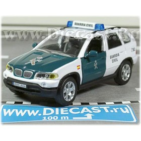 Bmw X5 Suv Spanish Police Guardia Civil 2004 1:43 D43H1131