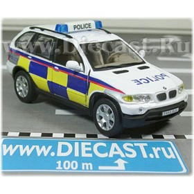 Bmw X5 Police Battenburg United Kingdom Suv 1:43 D43H1220