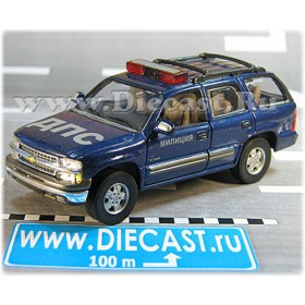 Chevrolet Tahoe Russian Police Patrol Dps Suv 1:43 D43H1700