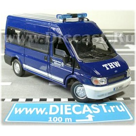 Ford Transit Van German Thw Technical Emergency Service 1:43 D43H0958