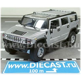 Hummer H-2 Wagon Suv 2004 Color Metallic Silver 1:43 D43H0975