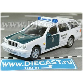 Mercedes Benz 300 Wagon Spanish Police Guardia Civil 2002 1:43 D43H1132
