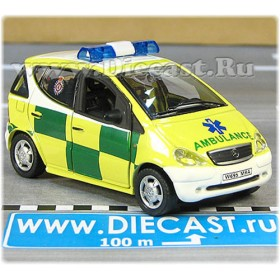Mercedes Benz 140 A Class Ambulance Accident Emergency United Kingdom 1:43 D43H1527