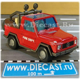 Mercedes Benz G Class Gelandewagon Fire Dept Vintage Model 1:43 D43H2020