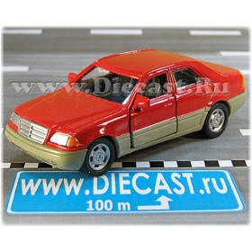 Mercedes Benz S Class Red Vintage Model 1:43 D43H2022