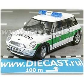 Bmw Mini Cooper German Police Polizei 2000 1:43 D43H0972