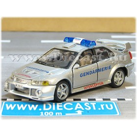 Mitsubishi Lancer Evoluton Vi French Police Gendarmerie Interceptor 1:43 D43H1638