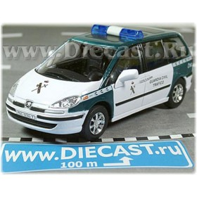 Peugeot 807 Van Spanish Police Guardia Civil 2005 1:43 D43H1136