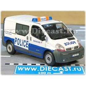 Renault Trafic Van French Police Lille City Polimunicars 1:43 D43H1651