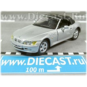 Bmw Z3 Coupe Soft Top Color Silver 1:43 D43H1161