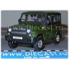 Uaz Hunter 2003 Russian Suv Color Green 1:43 D43H1202