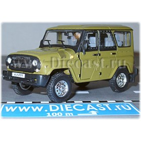 Uaz Hunter 2003 Russian Suv Color Olive Green Khaki 1:43 D43H1203