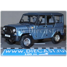 Uaz Hunter 2003 Russian Suv Color Light Blue Metallic 1:43 D43H1204