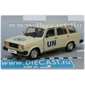 Lada Vaz 2104 1500 Station Wagon Un Russian United Nations Police Patrol 1:43 D43H1714