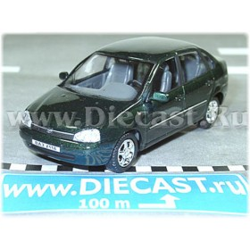 Lada Vaz 118 2118 Kalina Color Deep Green Metalliс 1:43 D43H1154