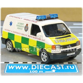 Volkswagen Transporter T4 Ambulance Uk Accident Emergency Service Rapid Response Unit 1:43 D43H1779