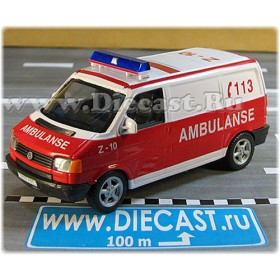 Volkswagen Transporter T4 Norwegian Ambulance Van Norway Ambulanse 1:43 D43H1785